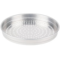 American Metalcraft SPHA5116 5100 Series 16 inch Super Perforated Heavy Weight Aluminum Straight Sided Self-Stacking Pizza Pan