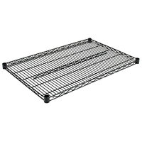 Alera ALESW583624BL 36 inch x 24 inch Black Industrial Wire Shelf - 2/Case