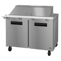 Hoshizaki SR48A-18M 48 inch 2 Door Mega Top Stainless Steel Refrigerated Sandwich Prep Table