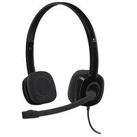 Logitech 981000587 H151 Black Binaural Headset