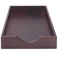 Advantus 07223 10 1/4 inch x 15 1/4 inch x 2 1/2 inch Mahogany 1 Section Legal-Size Stackable Desk Tray