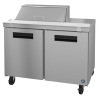 Hoshizaki SR48A-8 48 inch 2 Door Stainless Steel Refrigerated Sandwich Prep Table