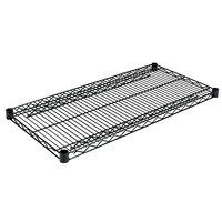 Alera ALESW583618BL 36 inch x 18 inch Black Industrial Wire Shelf - 2/Case