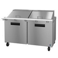 Hoshizaki SR60A-24M 60 inch 2 Door Mega Top Stainless Steel Refrigerated Sandwich Prep Table
