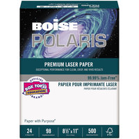 Boise BPL0211 Polaris 8 1/2 inch x 11 inch White Premium Ream of 28# Laser Paper - 500 Sheets