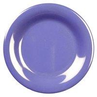 Thunder Group CR012BU 11 3/4 inch Purple Wide Rim Melamine Plate - 12/Pack