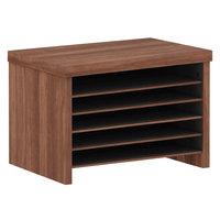 Alera ALEVA316012WA Valencia 15 3/4 inch x 10 inch x 11 inch Walnut File Organizer Shelf