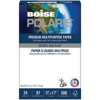 Boise BPL0117 Polaris 11 inch x 17 inch White Premium Ream of 24# Laser Paper - 500 Sheets