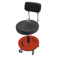 ShopSol 1010277 Black Vinyl Tool Trolley Stool with Removable Trays