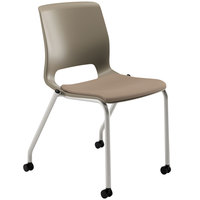 HON MG201CU24 Motivate Seating Morel Fabric Stacking Armless Guest Chair with Casters - 2/Case