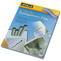 Apollo PP100C 8 1/2 inch x 11 inch Clear Transparency Film for Overhead Projectors - 100/Box
