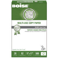 Boise OX9007 X-9 11 inch x 17 inch White Case of 20# Multi-Use Copy Paper - 2500 Sheets - 5/Case