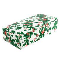 8 7/8 inch x 3 3/4 inch x 2 3/8 inch 1-Piece 2 lb. Holly Candy Box - 250/Case