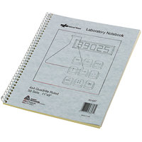 National 43647 9 inch x 11 inch Assorted Color Quadrille Ruled 100 Page Duplicate Laboratory Notebook