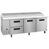 Hoshizaki PR93A-D2 93 inch 2 Drawer and 2 Door Refrigerated Pizza Prep Table