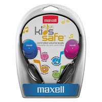 Maxell 190338 Pink / Blue / Silver Kid-Safe Headphones