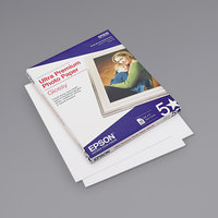 Epson S042175 8 1/2 inch x 11 inch Bright White Pack of 11.8 Mil Ultra Premium Gloss Photo Paper - 50 Sheets