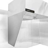 Halifax CURTHALF Half Side Curtains for Type 1 Box Hoods and Type 2 Heat Removal Hoods - 2/Set