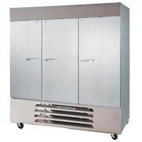 Beverage-Air HBRF72HC-1-C Horizon Series Three Section Dual Temperature Reach-in Refrigerator / Freezer