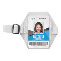 Advantus 75649 2 1/2 inch x 3 1/2 inch Clear Vertical Arm Badge Holder   - 12/Box