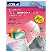 Apollo CG7031S Quick-Dry Color Inkjet Transparency Film with Handling Strip - 50/Box