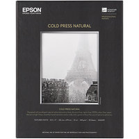 Epson S042297 Cold Press Natural 8 1/2 inch x 11 inch White Pack of 19 Mil Fine Art Matte Paper - 25 Sheets