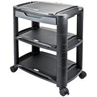 Alera ALEU3N1BL Black 3-in-1 Storage Cart and Stand