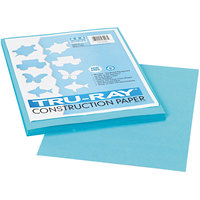 Pacon 103007 Tru-Ray 9 inch x 12 inch Turquoise Pack of 76# Construction Paper - 50 Sheets