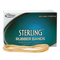 Alliance 25405 Sterling 7 inch x 1/8 inch Crepe #117B Rubber Bands, 12 lb. - 250/Box