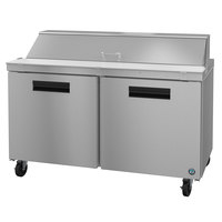 Hoshizaki SR60A-16 60 inch 2 Door Stainless Steel Refrigerated Sandwich Prep Table