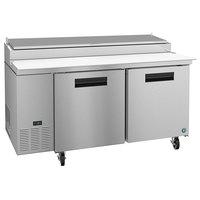 Hoshizaki PR67A 67 inch 2 Door Refrigerated Pizza Prep Table