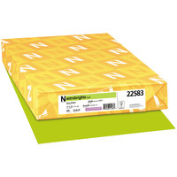 Astrobrights 22583 11 inch x 17 inch Terra Green Ream of 24# Color Paper - 500 Sheets