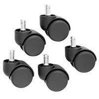 Master Caster 64235 Oversize Neck Nylon Safety Casters - 5/Set