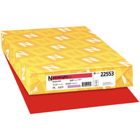 Astrobrights 22553 11 inch x 17 inch Re-Entry Red Ream of 24# Color Paper - 500 Sheets