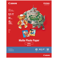 Canon 7981A004 8 1/2 inch x 11 inch White Pack of 8.5 Mil Matte Photo Paper Plus - 50 Sheets