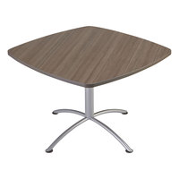 Iceberg 69747 iLand Edgeband 42 inch x 42 inch x 29 inch Natural Teak Laminate Square Cafe Table
