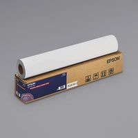Epson S041617 100' x 24 inch White Enhanced Adhesive Synthetic Matte Paper Roll