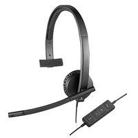 Logitech 981000570 H570e Black USB Monaural Headset