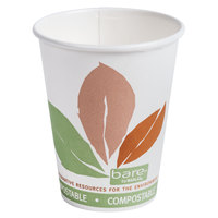 Dart Solo 378PLA-J7234 Bare Eco-Forward 8 oz. Paper Hot Cup - 50 / Pack