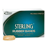 Alliance 24165 Sterling 2 1/2 inch x 1/16 inch Crepe #16 Rubber Bands, 6 lb. - 2300/Box