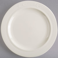 Homer Laughlin by Steelite International HL6091000 10 5/8 inch Ivory (American White) China Plate - 12/Case