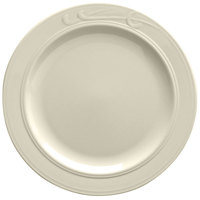 Homer Laughlin 6091000 Lyrica 10 5/8 inch Ivory (American White) China Plate - 12/Case