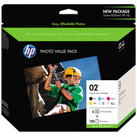 Hewlett-Packard Q7964AN HP 02 6-Pack Assorted Original Ink with 4 inch x 6 inch Photo Paper