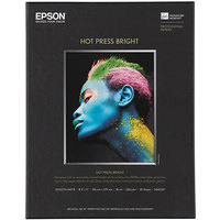 Epson S042327 Hot Press Bright 8 1/2 inch x 11 inch White Pack of 17 Mil Smooth Matte Fine Art Paper - 25 Sheets