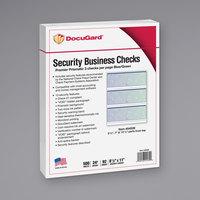 DocuGard 04539RM 8 1/2 inch x 11 inch Blue / Green 13 Feature Premier Prismatic Check - 500/Ream