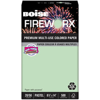 Boise MP2204GN Fireworx 8 1/2 inch x 14 inch Popper-Mint Green Premium Ream of 20# Multi-Use Paper - 500 Sheets