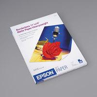 Epson S041468 14 inch x 11 inch Bright White Pack of 9 Mil Premium Matte Presentation Paper - 50 Sheets