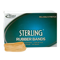 Alliance 24645 Sterling 3 1/2 inch x 1/4 inch Crepe #64 Rubber Bands, 24 lb. - 425/Box