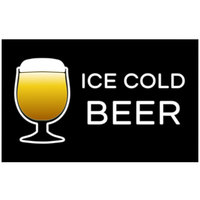 22 inch x 14 inch Ice Cold Beer Horizontal Nano LED Sign