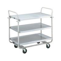 Vollrath 97167 Thrift-I-Cart Chrome 3 Shelf Cart - 33 inch x 21 inch x 36 1/2 inch